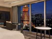パノラミックのお部屋から見る東京タワーの夜景をご満喫ください。