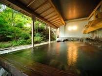 【打たせ湯露天】四季を感じながら、のびのびとご入浴ください。