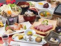 【旬彩会席「かきつばた」】2018年秋のお料理一例※内容は一部変更となる場合がございます。