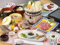 【旬彩会席「かきつばた」】2018年冬のお料理一例※内容は一部変更となる場合がございます。