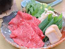 *【夕食一例】ご当地ブランド牛「熊野牛」のすき焼き