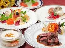 夕食【おまかせフレンチコース】彩りも美しく、シェフ自慢のコースで召し上がれ♪(写真はイメージです)