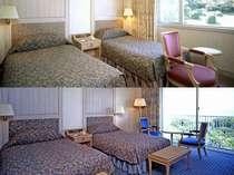 【お部屋一例】海側・山側どちらのお部屋になるかはお楽しみ♪