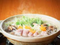 もち豚鍋(先附・鍋・食事・フルーツ)