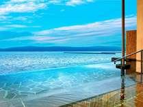 【インフィニティ露天風呂】海と露天風呂の水面が一体化!無限に広がる風景をお楽しみください。