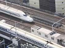 新幹線パノラマプラン部屋からの景色イメージ