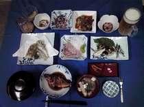 結乃里では取れたての魚を提供しています。旬の魚を味わってください
