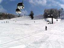 当館より徒歩1分の晴天率80%、標高1830mの白樺高原国際スキー場。毎日良質なスノーコンデション!