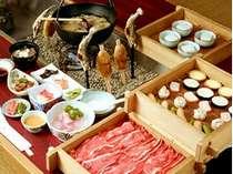 【お得コース】お得に飛騨牛と炉端料理・つるべ料理をお楽しみください(一例)
