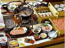 【槍コース】飛騨牛極上ロース肉と飛騨牛ステーキ付(4人前一例)