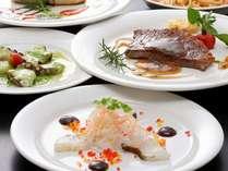 小豆島の食材をふんだんに使用したコース料理です