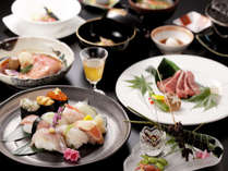 【能登牛と地魚会席】豊かな味わいの能登牛と、お寿司をご賞味ください。(イメージ)
