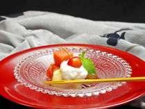 【ご夕食:デザート(一例)】会席料理の最後には、美味しい旬のデザートを