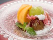 *【夕食(デザート)】会席の最後には、さっぱりとした果実が合います