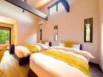 【さくら 和洋室】シモンズ社製のベッドで、快適な眠りを