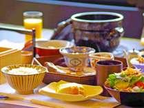 【朝食】朝に美味しい料理の数々を少しづつ