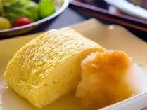 【朝食】ふかふかの卵焼きは、温かいうちにお召し上がりいただきたい