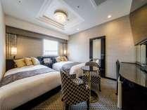 デラックスツインルーム:広さ21㎡/ベッド幅120cm×2台