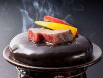 別注料理「国産牛石焼き」