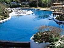 7月21日~9月2日まで晴れた日は庭園プールが開きます!お子様を連れて、ぜひ遊びに来てください♪