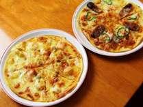ひまわり自慢の手づくりピザはグレードアッププラン、プレミアムプランで食べられます!