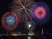8月13日は、毎年恒例「関門花火大会!」
