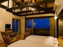 最上階「名残の月」ベッドルーム