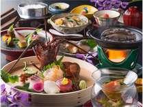 ◆遷宮会席◆ これに鮑踊り焼きor松阪牛すき鍋風のどちらかをお好みでチョイス!(イメージ)