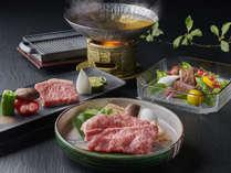 贅沢に松坂牛づくし。炙り握り・鉄板焼き・すき鍋でいただく