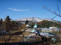 冬の王国からは黒姫山がきれいに見えます★
