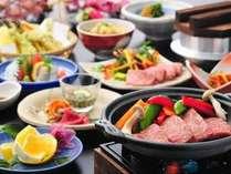 夕食(例)宮崎牛陶板焼き
