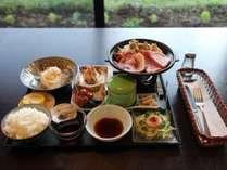 春季~秋季お夕食(焼肉メニュー)です