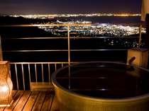 客室露天風呂のぬくもりと絶景夜景に癒される…◇月昇宮◇