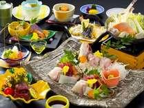 三河湾の旬の食材を使った会席料理「天空膳」