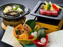 ☆メイン3大料理☆アカザエビお造り・みかわ牛サイコロステーキ・鮑陶板焼き
