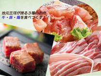 地元三河が誇る三種のお肉を堪能♪【肉三昧ぷらん】