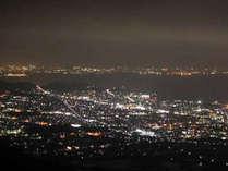 蒲郡を一望できる「南星宮」お部屋から見える夜景