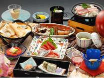三河湾の旬の食材を使った会席料理「流星膳」