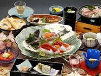 地魚の盛り込み付き会席『流星の膳』