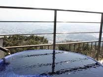 露天風呂付客室◆月昇宮◆から見る景色