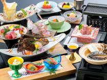 【煌めきの膳】一例※季節や仕入の状況により器や料理内容が異なる場合がございます。
