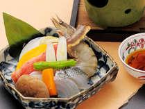 プラス一品【とやま海鮮石焼】基本の海鮮焼きを基本会席にプラス!
