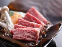 飛騨牛の朴葉みそ焼(一例)板長独自のレシピで調製した朴葉みそは香ばしく、飛騨牛との相性は抜群!