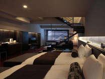 【SUITE】120平米のスイートルーム。セミダブルのベッドでリラックス。