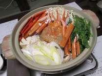 *夕食一例/海鮮かんずり鍋。日本海で朝獲れた新鮮な魚を仕入れています。
