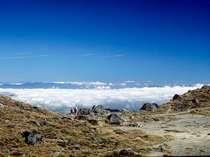 *日光白根山山頂から望む雲海