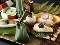 前菜4種。季節によって食材も変わり、その季節季節の良さを味わえます。