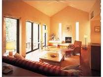 ≪ツインルーム≫開放感のあるリビングルーム一例