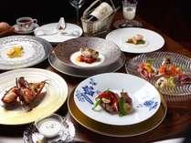【夕食】鉄板焼きディナー/素材本来の旨味を最大限にお愉しみいただけるお料理をご用意※コース一例