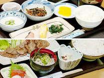 【夕朝食 一例】